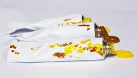 Tubos con la pintura Fotos de archivo libres de regalías