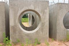 Tubos concretos del drenaje Imagenes de archivo
