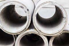 Tubos concretos del drenaje Fotografía de archivo