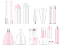 Tubos cosméticos en blanco Foto de archivo libre de regalías