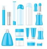 Tubos cosméticos en blanco Imagen de archivo libre de regalías