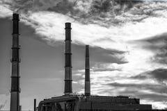Tubos da fábrica Fotografia de Stock