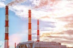 Tubos da fábrica Foto de Stock