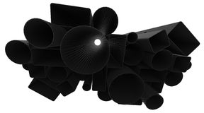 Tubos da fibra do carbono Imagens de Stock Royalty Free