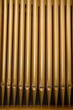 Tubos de órgano de la iglesia Imágenes de archivo libres de regalías