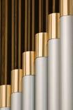 Tubos de órgano de la iglesia Fotos de archivo