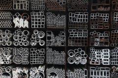 Tubos de acero Fotos de archivo