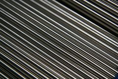 Tubos de acero brillantes imagenes de archivo
