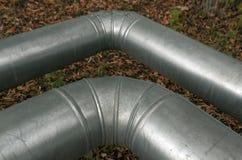 Tubos de acero del metal Fotos de archivo