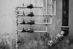 Tubos de agua Fotografía de archivo