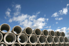 Tubos de agua Foto de archivo libre de regalías