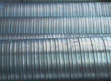 Tubos de aluminio del respiradero Imágenes de archivo libres de regalías