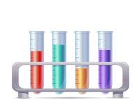 Tubos de análise laboratorial do vetor Fotografia de Stock