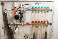 Tubos de calefacción del sistema Imagenes de archivo