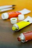 Tubos de color de petróleo Foto de archivo libre de regalías