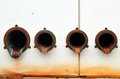 Tubos de desagüe Fotografía de archivo libre de regalías