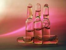 Tubos de ensaio coloridos Fotografia de Stock