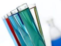 Tubos de ensaio do laboratório Imagens de Stock