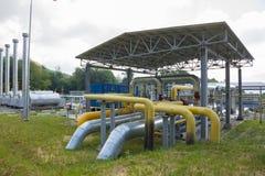 Tubos de la central eléctrica Foto de archivo libre de regalías