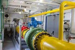Tubos de la central eléctrica Imagen de archivo libre de regalías