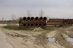 Tubos de la construcción Foto de archivo