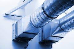 Tubos de la ventilación fotografía de archivo libre de regalías