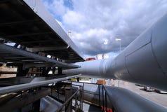 Tubos de la ventilación de una condición del aire Imagen de archivo libre de regalías