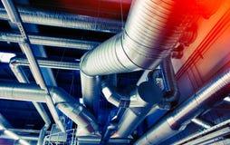 Tubos de la ventilación de una condición del aire imagen de archivo