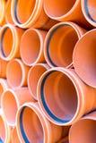 Tubos de las aguas residuales Imagenes de archivo