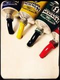 Tubos de las pinturas de aceite Foto de archivo libre de regalías