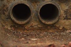 Tubos de llama de calderas Fotos de archivo libres de regalías