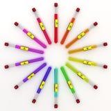 Tubos de Multicolors Fotografía de archivo