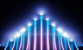 Tubos de ne?n con la luz maravillosa ilustración del vector