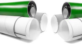 Tubos de papel Foto de archivo