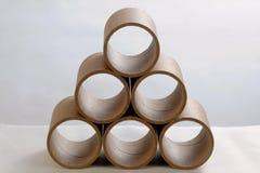 Tubos de papel Foto de Stock Royalty Free