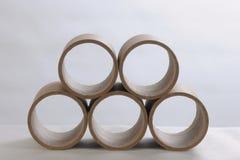 Tubos de papel Imagem de Stock Royalty Free