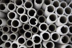 Tubos de papel industriales. Imagen de archivo