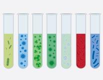 Tubos de prueba con los virus. Fotos de archivo
