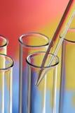 Tubos de prueba de cristal Imágenes de archivo libres de regalías