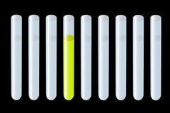 Tubos de prueba de la reacción Imágenes de archivo libres de regalías