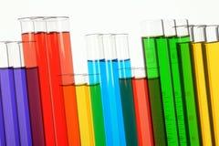 Tubos de prueba en laboratorio Fotografía de archivo