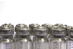 Tubos de prueba sellados con las bacterias Fotos de archivo libres de regalías