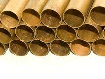 Tubos de un latón Imagenes de archivo