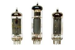 Tubos de vacío de cristal fotos de archivo