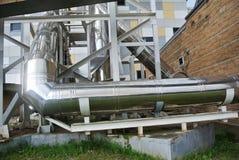 Tubos del abastecimiento de agua del metal Foto de archivo