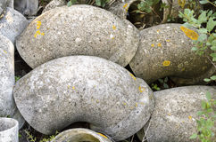 Tubos del amianto abandonados Imagen de archivo libre de regalías