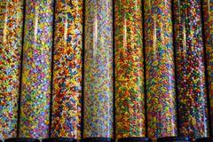 Tubos del caramelo Fotos de archivo libres de regalías