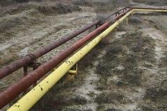 Tubos del gas y de aceite Fotos de archivo