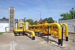 Tubos del gas y de petróleo Fotografía de archivo