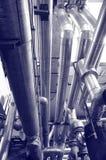Tubos del gas y de petróleo de la industria imagen de archivo libre de regalías